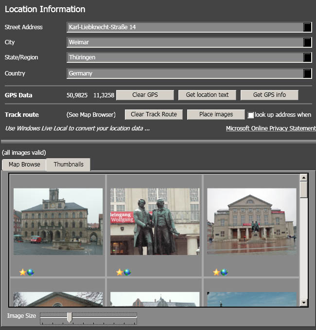 geotagging mit Pro-Photo Tools: Geokodierung