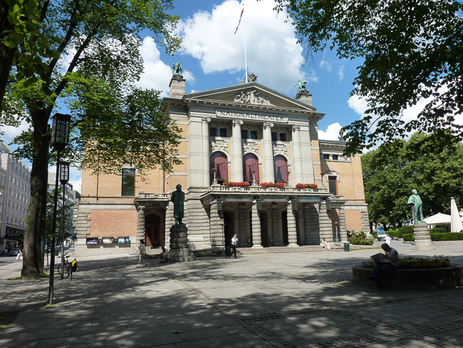 Norwegen Oslo Nationaltheater